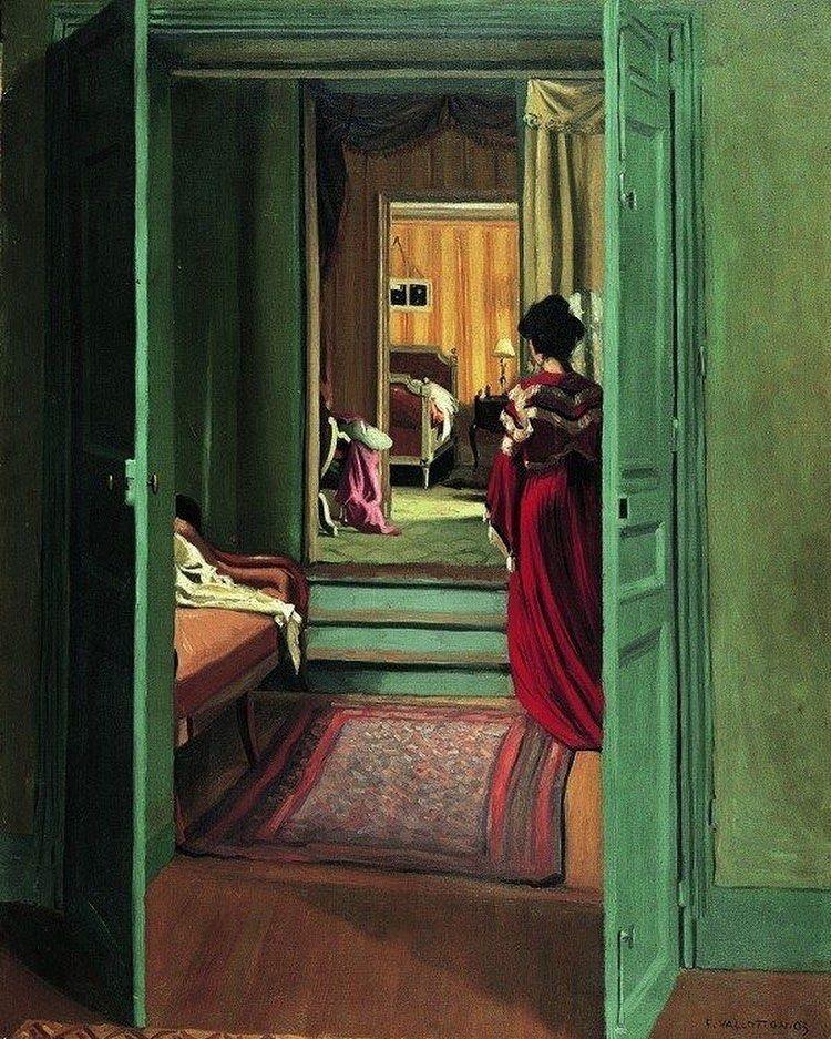 Felix Vallotton「Woman with powder」(c.1910) | Portrait, Art