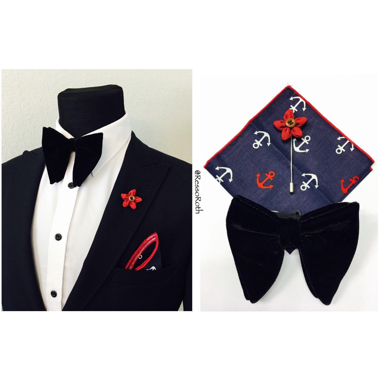 Handkerchief Luxury Black Velvet Pocket Square