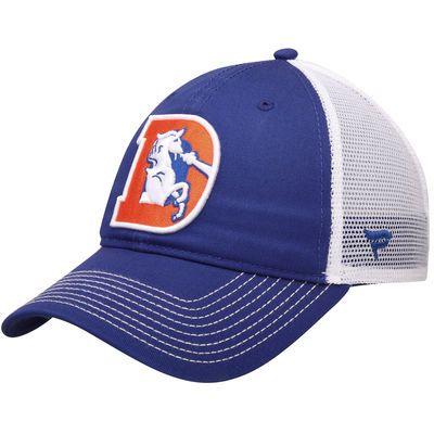 0ba6006f Denver Broncos NFL Pro Line by Fanatics Branded Vintage Core Trucker  Adjustable Snapback Hat - Royal/White