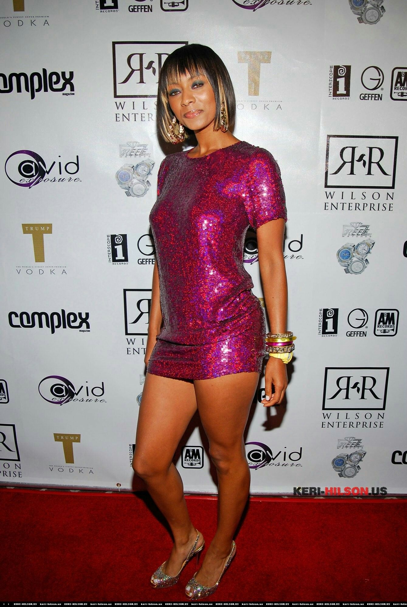 Keri Hilson Red Carpet Dresses