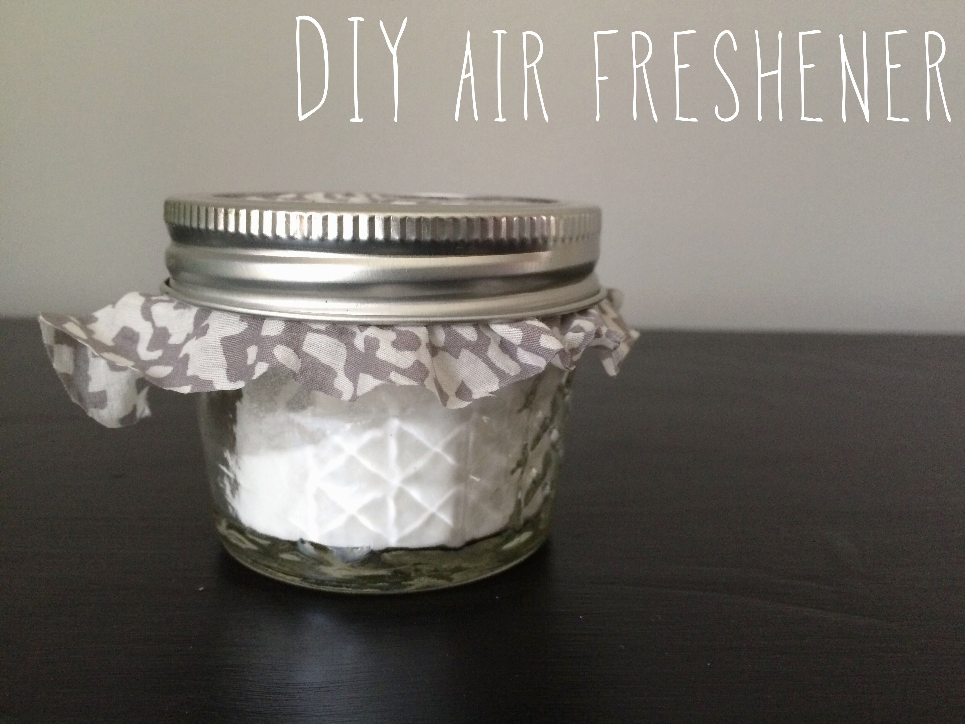 DIY Air freshener; made with baking soda and essential oil
