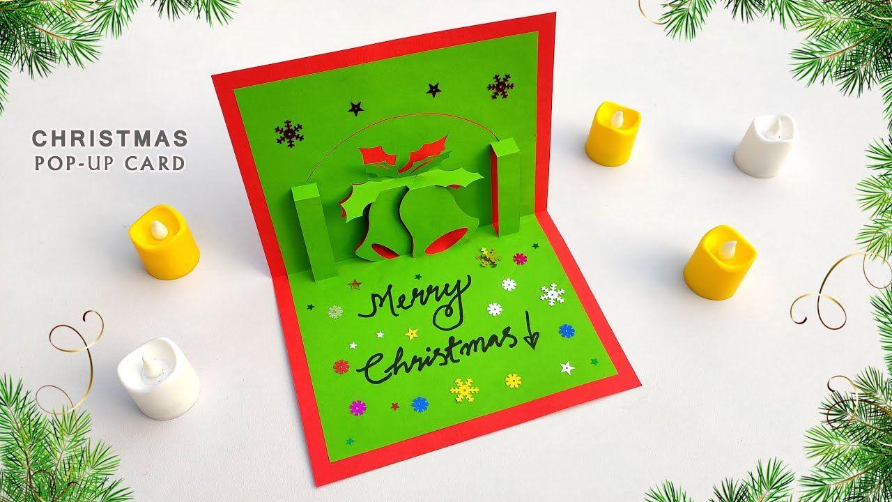 Diy Christmas Pop Up Card How To Make A 3d Christmas Bell Greeting Car Christmas Cards Handmade Greeting Cards Handmade Handmade Christmas
