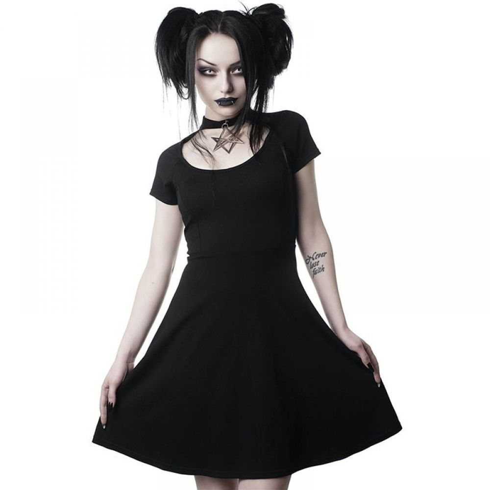 Gothic Dresses Free Delivery Gothic Ltd Gothic Outfits Dresses Black Short Dress [ 1000 x 1000 Pixel ]