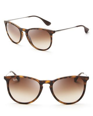 Delicate stems and curvy frames define these sleek Ray-Ban shades. | Made in