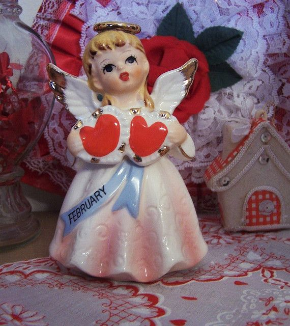 Vintage February Valentine Angel by MissConduct*, via Flickr