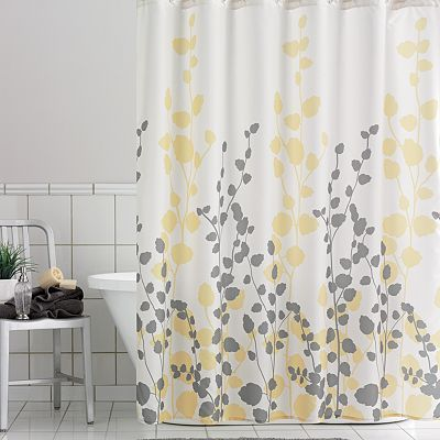 Home Classics Ivy Fabric Shower Curtain Yellow Bathrooms Yellow Shower Curtains Bathroom Shower Curtains