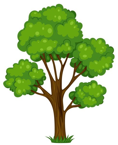 Painted Green Tree Png Clipart Picture Picture Tree Tree Painting Cartoon Trees