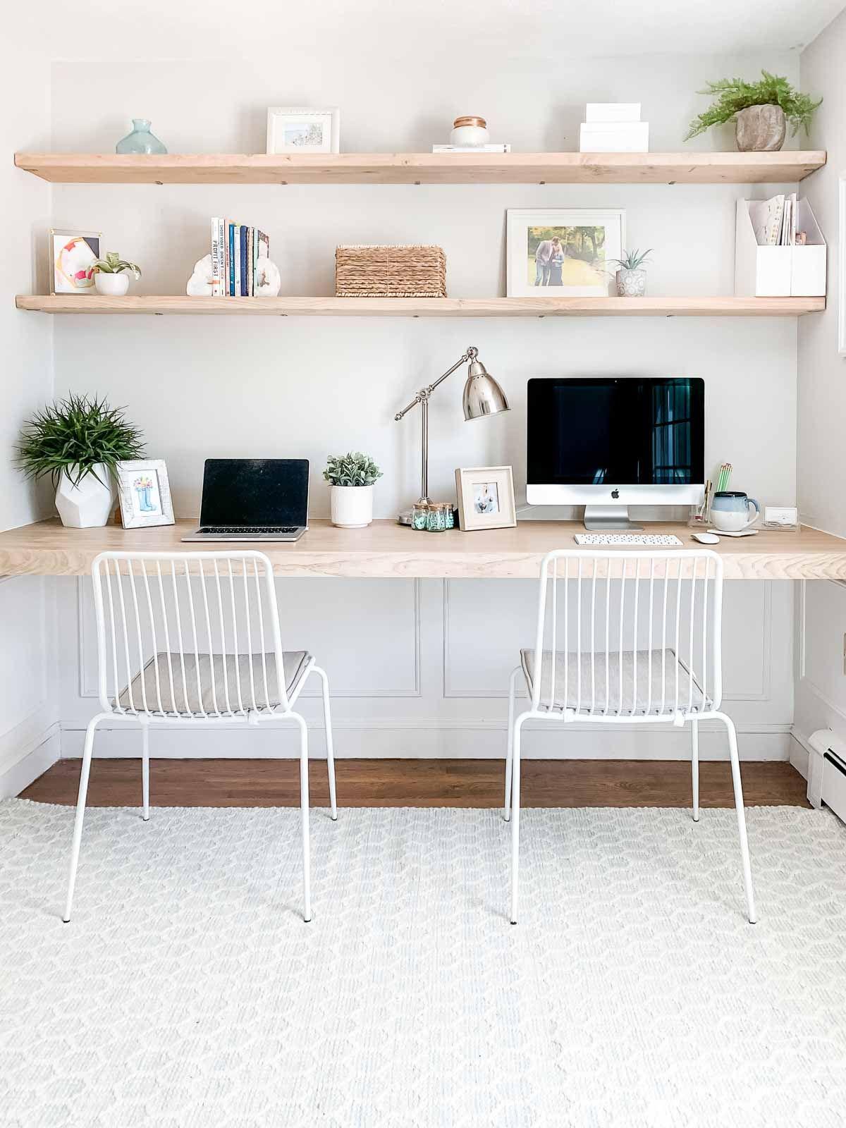 Diy Floating Desk And Shelves Home Office Decor