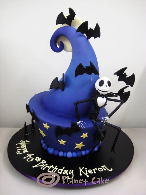this would be an excellent choice for halloween or a bday cake for a nightmare before