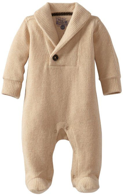 a13eff947015b Kapital K Baby-Boys Newborn Corduroy Fleece Shawl Collar Coverall ...