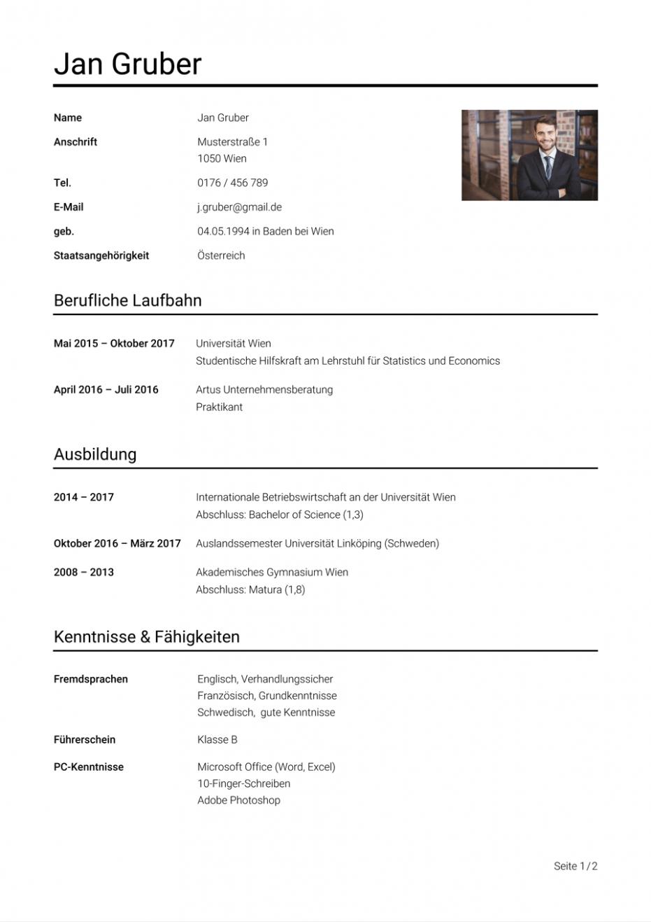 Lebenslauf Muster Osterreich In 2020 Inspiration Kitchen Design