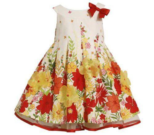 b28cf9e0215ac Amazon.com  Bonnie Jean Baby Girls Floral Poplin Spring Summer Dress ...