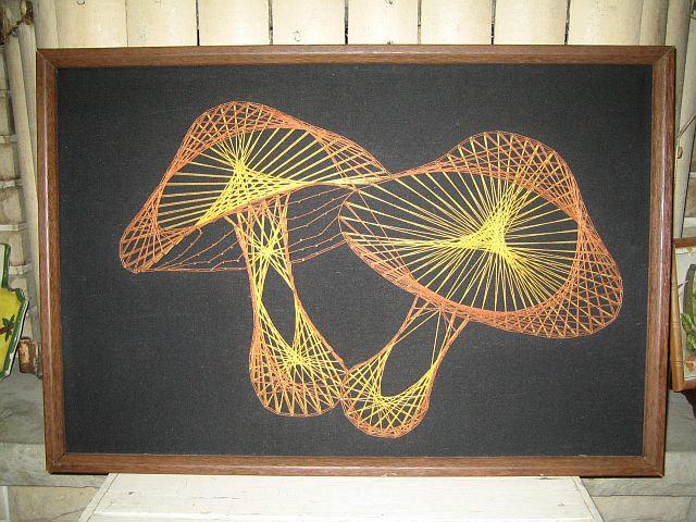 String Wall Art mushroom string art!!! | string art patterns | pinterest | string
