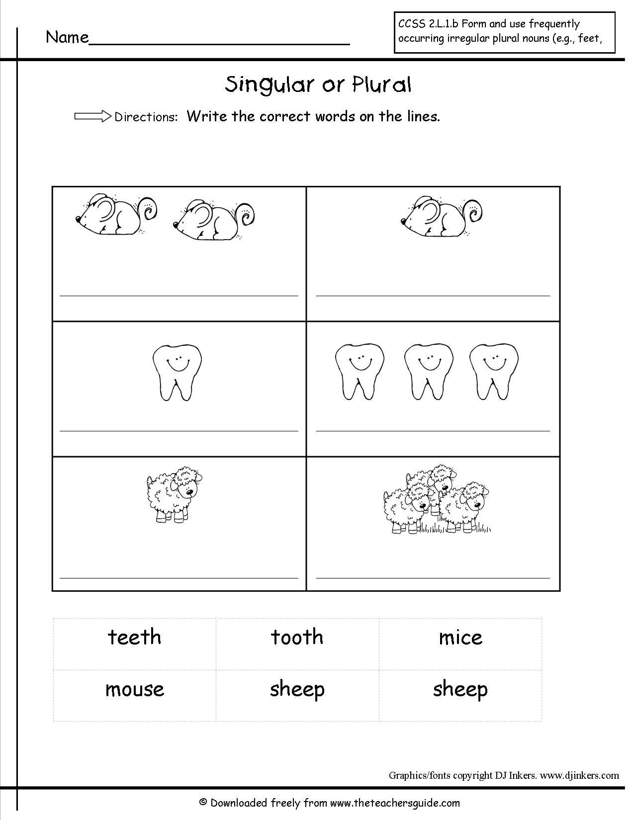 Plural Worksheets For Kindergarten Worksheet For Kindergarten Nouns Worksheet Plurals Worksheets Plurals
