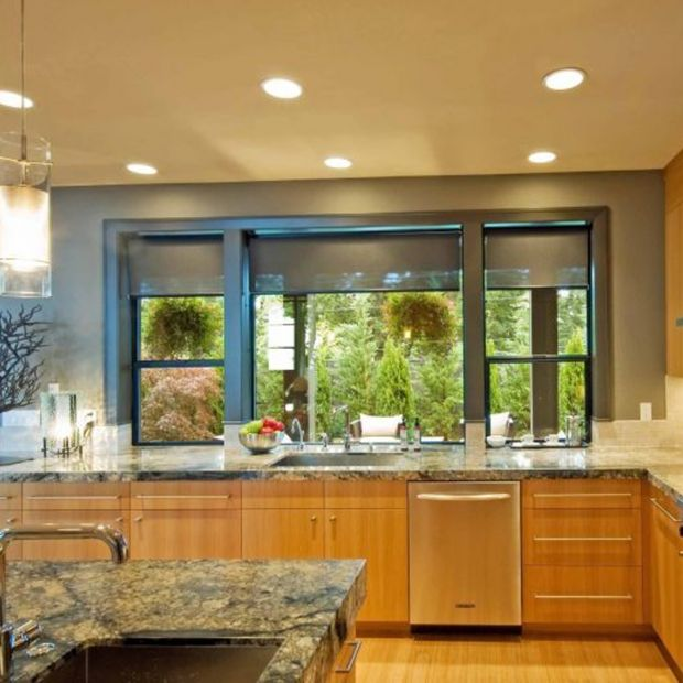 Kitchen Oak Cabinets Wall Color: Teal Kitchen, Oak Cabinets,