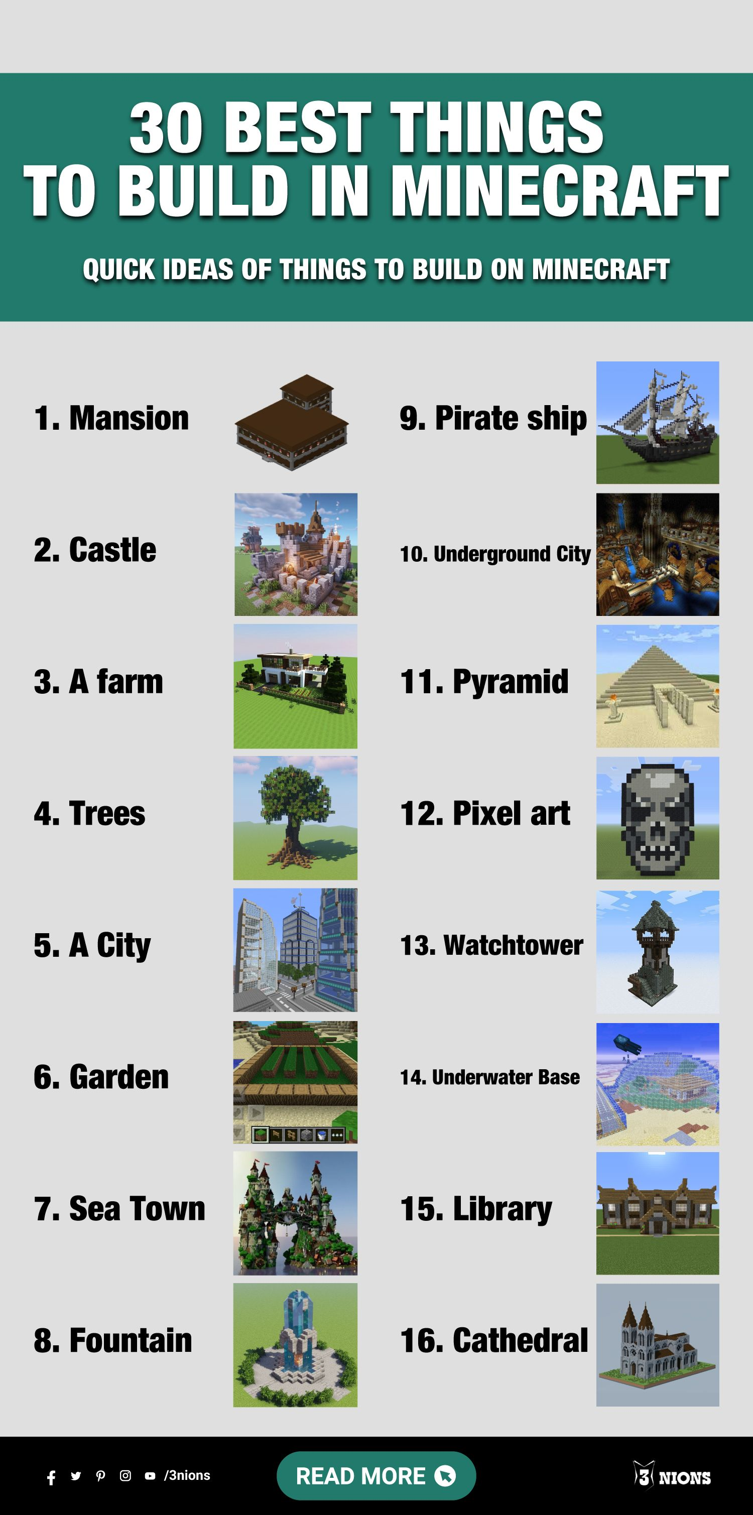 30 Best Things to Build in Minecraft Quick Ideas of Things to Build on Minecraft