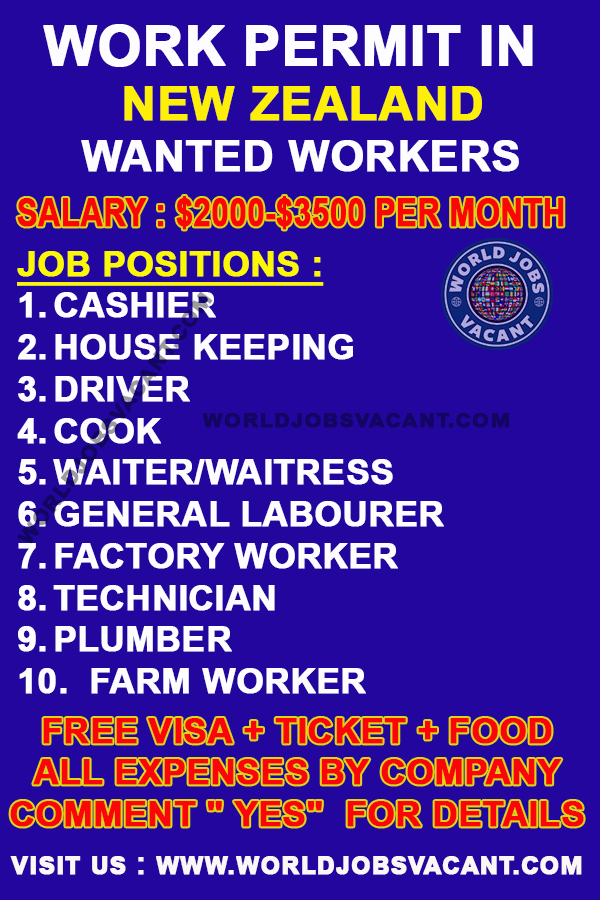 Urgent Workers Wanted In New Zealand New Zealand Jobs Job Offer