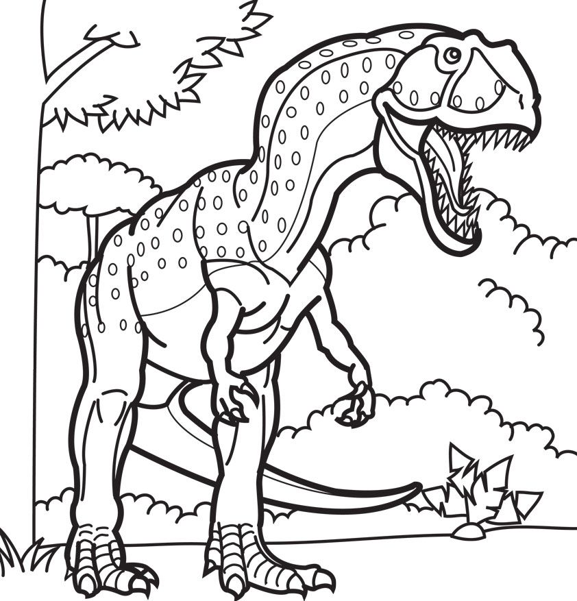 Coloring Pages Of Dinosaur Fossils Concept