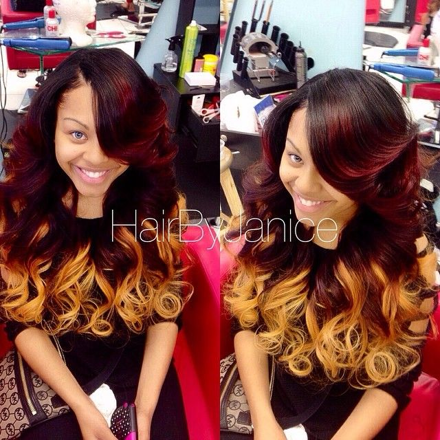 Awesome Natural Sew In Hairbyjanice Color Was Done By The Client Her Self Hairstyle Inspiration Daily Dogsangcom