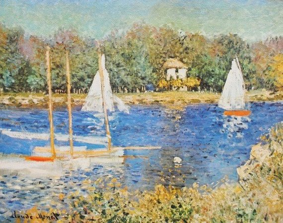 Bassin d/'Argenteuil by Claude Monet Giclee Museum Size Repro on Canvas