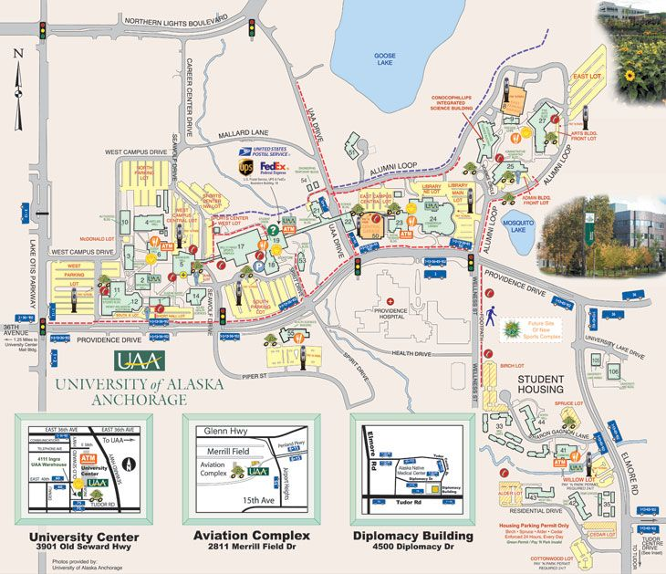UAA Campus Map (Classic) | UAA/APU and Anchorage | Pinterest