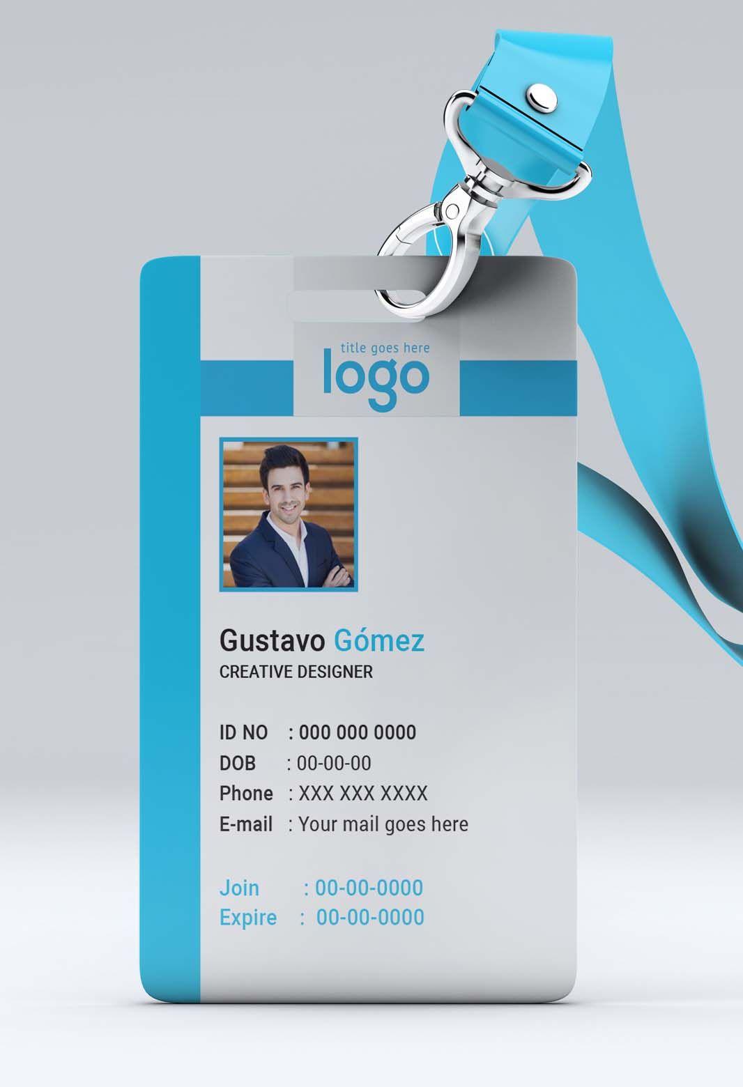Creative Id Card Template 14 Mabd86 Free Graphics Inside Portrait Id Card T Id Card Template Free Business Card Templates Business Cards Creative Templates