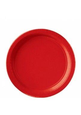 Suuri pahvilautanen, punainen 8 kpl/pkt