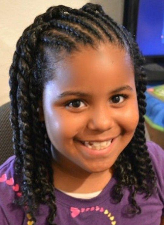 Little Hairstyles African American Twist S Black Braid For School