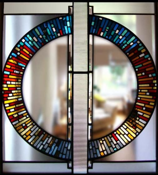Our Favorite Stained Glass Windows For Modern Homes Modernize Stained Glass Mirror Modern Stained Glass Stained Glass Panels