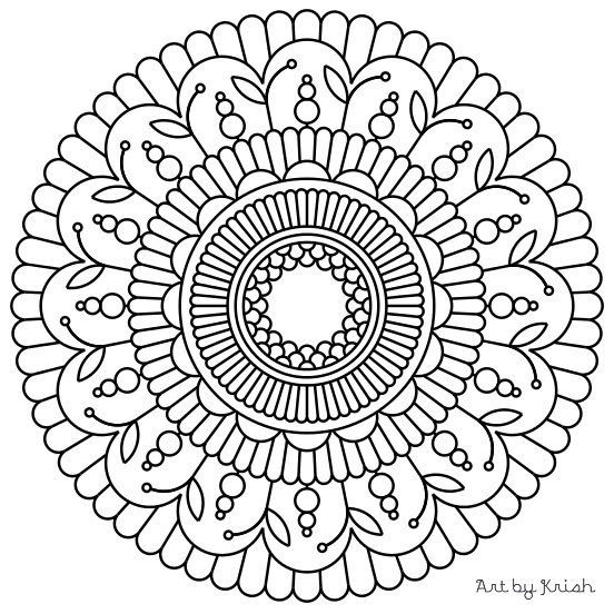 Coloring and creating Mandala is a great way to pass time for kids ...