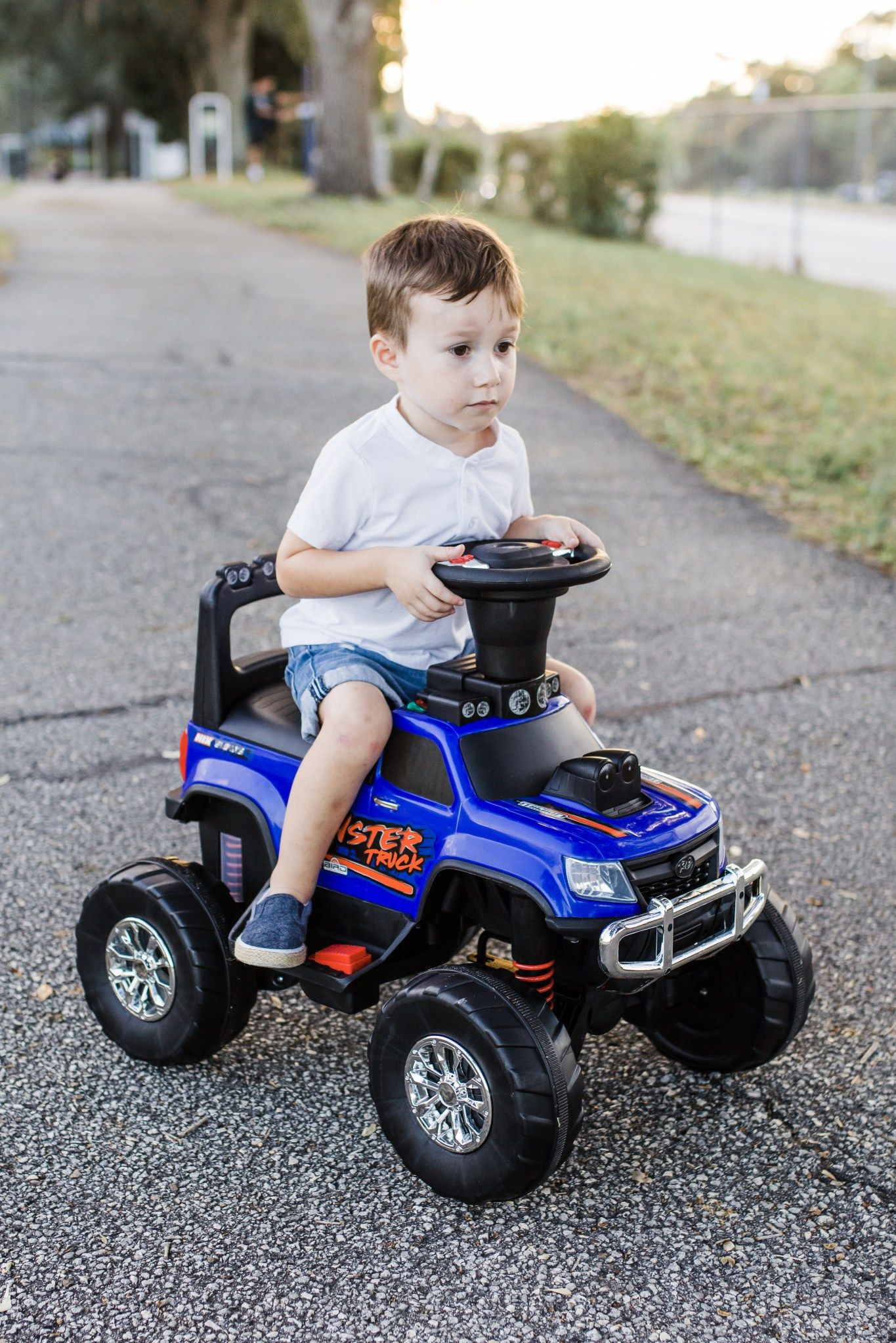 Get the holidays rolling with the RC Monster Truck ride-on