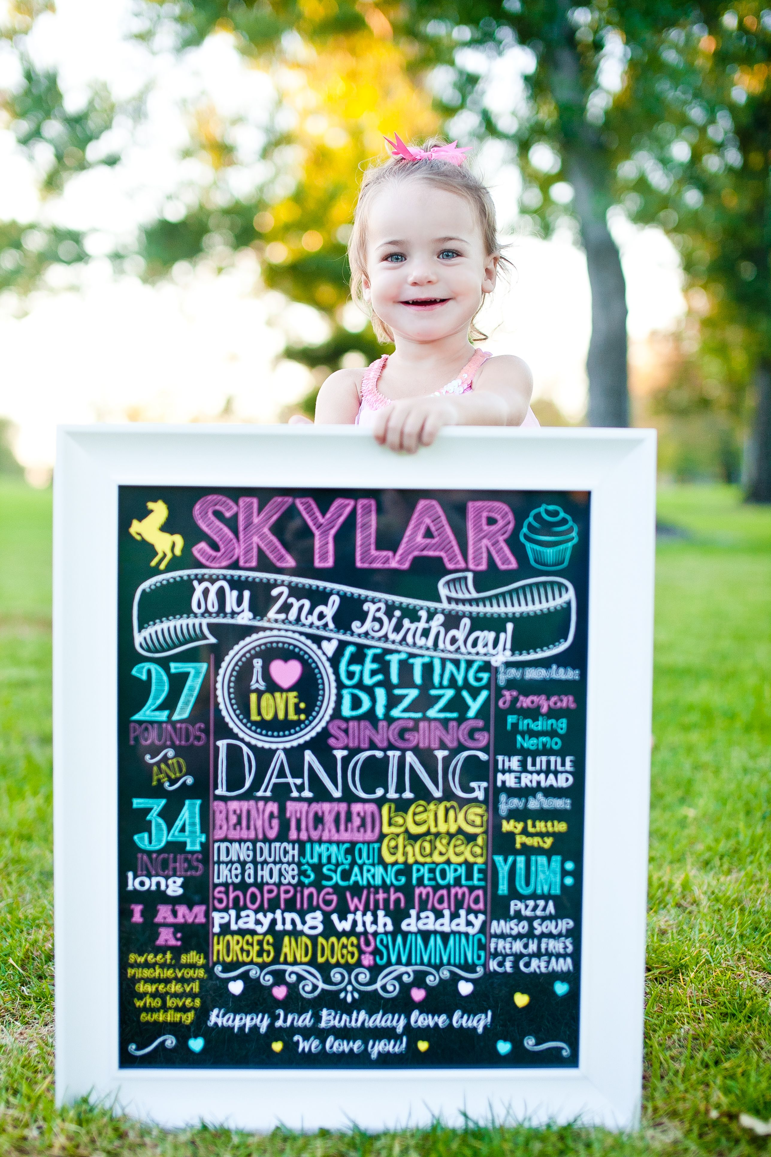 ADORABLE 2nd Birthday Chalkboard Sign With A Pink Yellow And Teal Carousel Cupcake Theme Customized Printable File For Photoshoot
