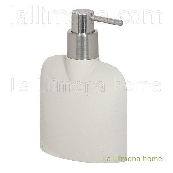 Dosificador baño hydra beige. http://www.lallimona.com/online/bano/