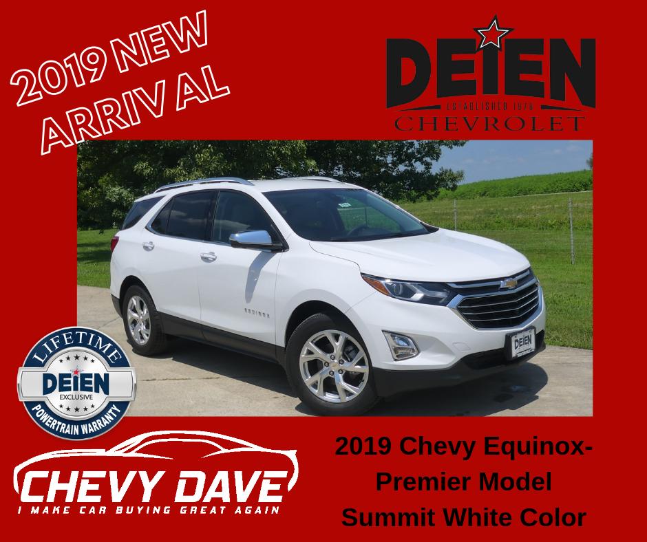 New 2019 Alert 2019 Chevrolet Equinox Premier Model Just Hit The Lot A 2019 Chevrolet Equinox Premier Model In The Summit White Color Chevy Chevrolet Equinox
