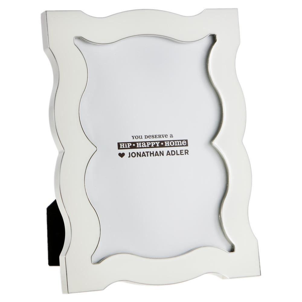 White Enamel Queen Anne Frame - 5x7\