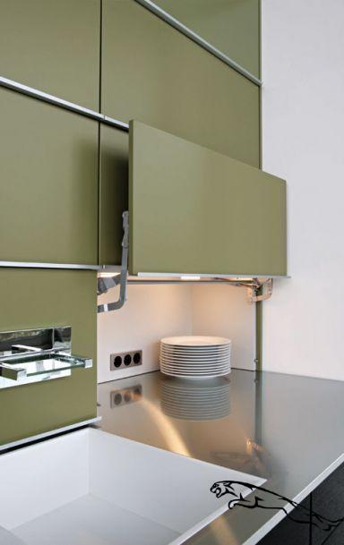 """Küche Versteckte Arbeitsfläche """"Concept 40"""" von Leicht"""