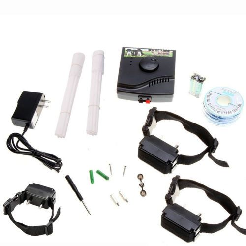 NEW 3 DOG Waterproof IN Ground Electronic Wireless PET Fence Containment System   eBay
