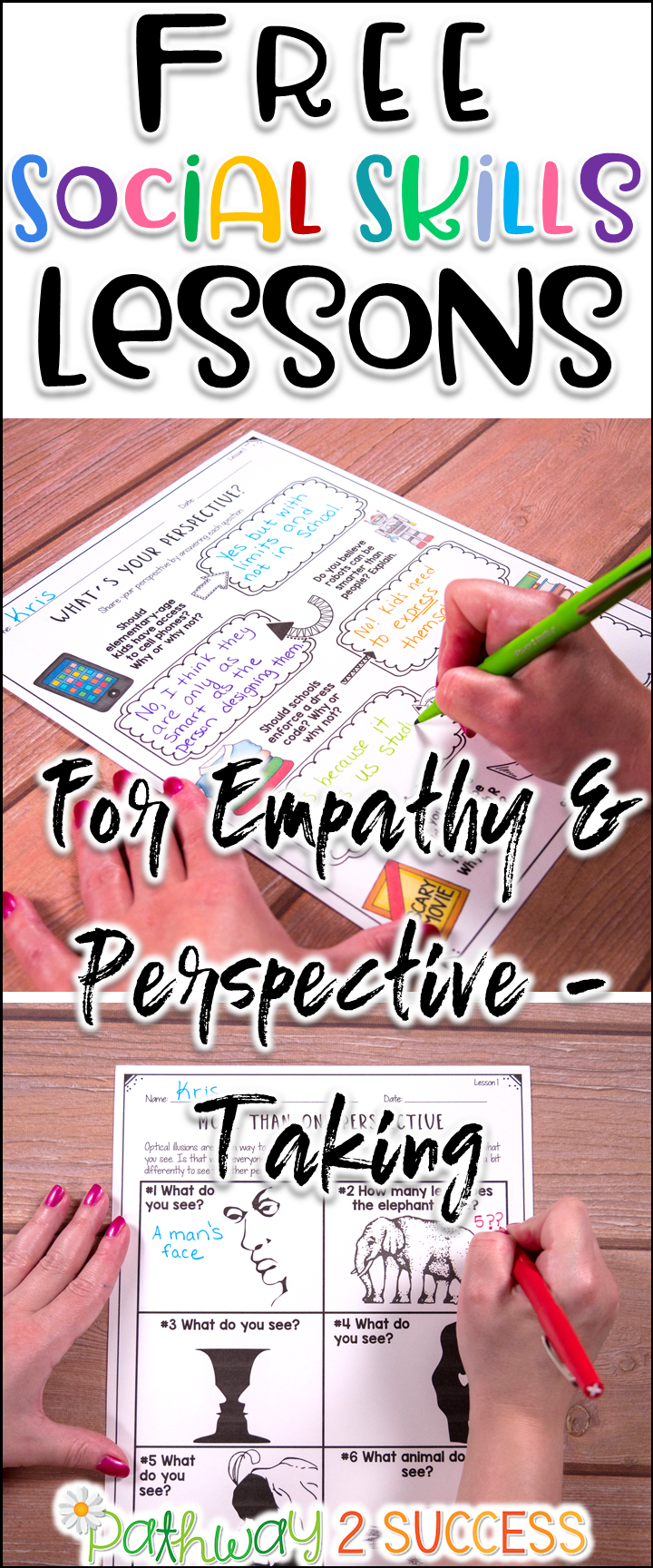 Free social skills lessons to teach empathy and perspective-taking ...