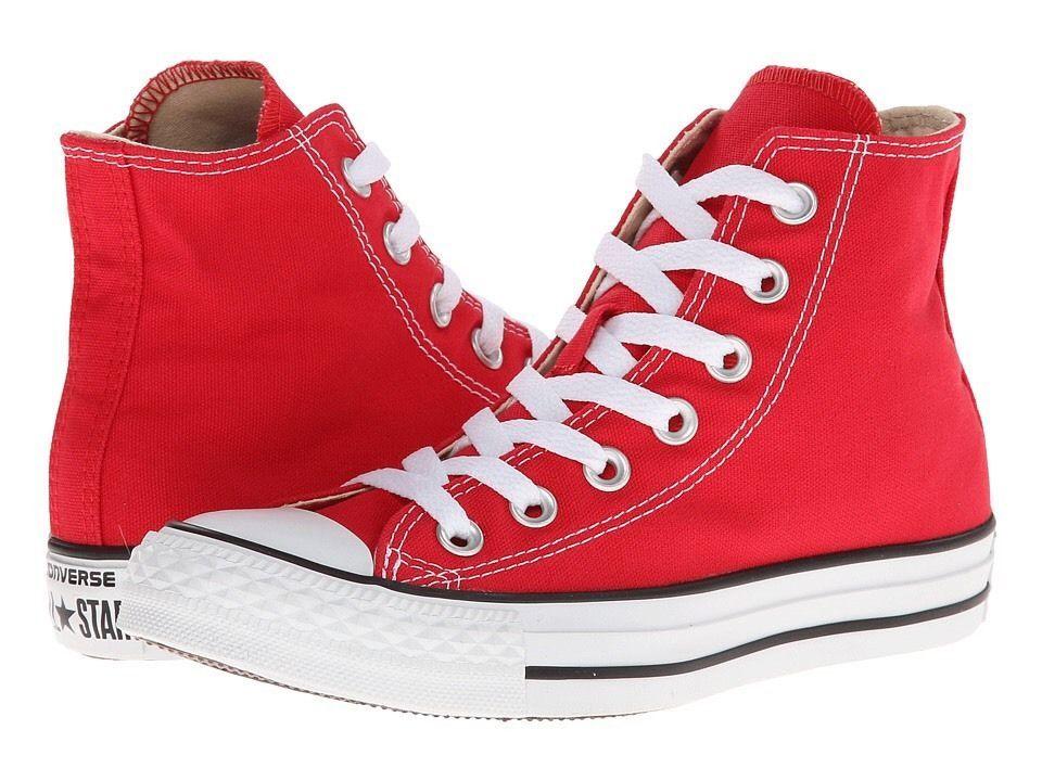 68f63d6eabd Converse Chuck Taylor All Star Hi High Tops Red Shoes Sneakers Men 6 Women  8