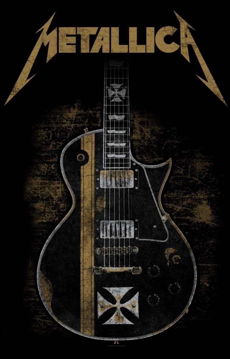 Metallica Hetfields Iron Cross Guitar