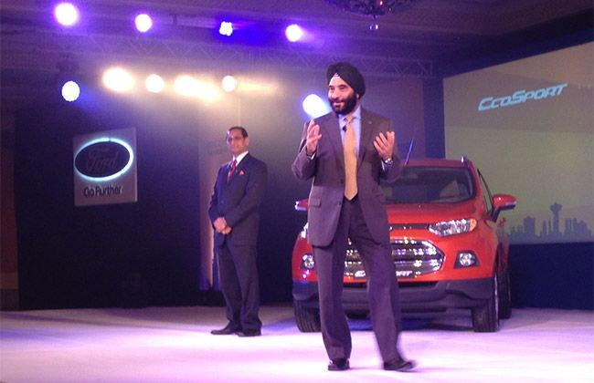 Ford Ecosport Compact Suv Launched At Rs 5 59 Lakh Ford Ecosport Compact Suv Ford