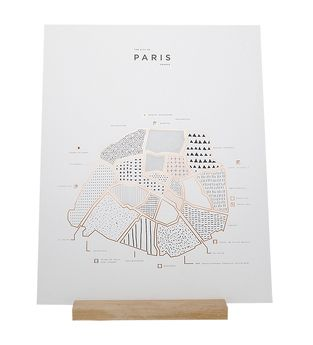 Affiche Paris - ROAM by 42 Pressed