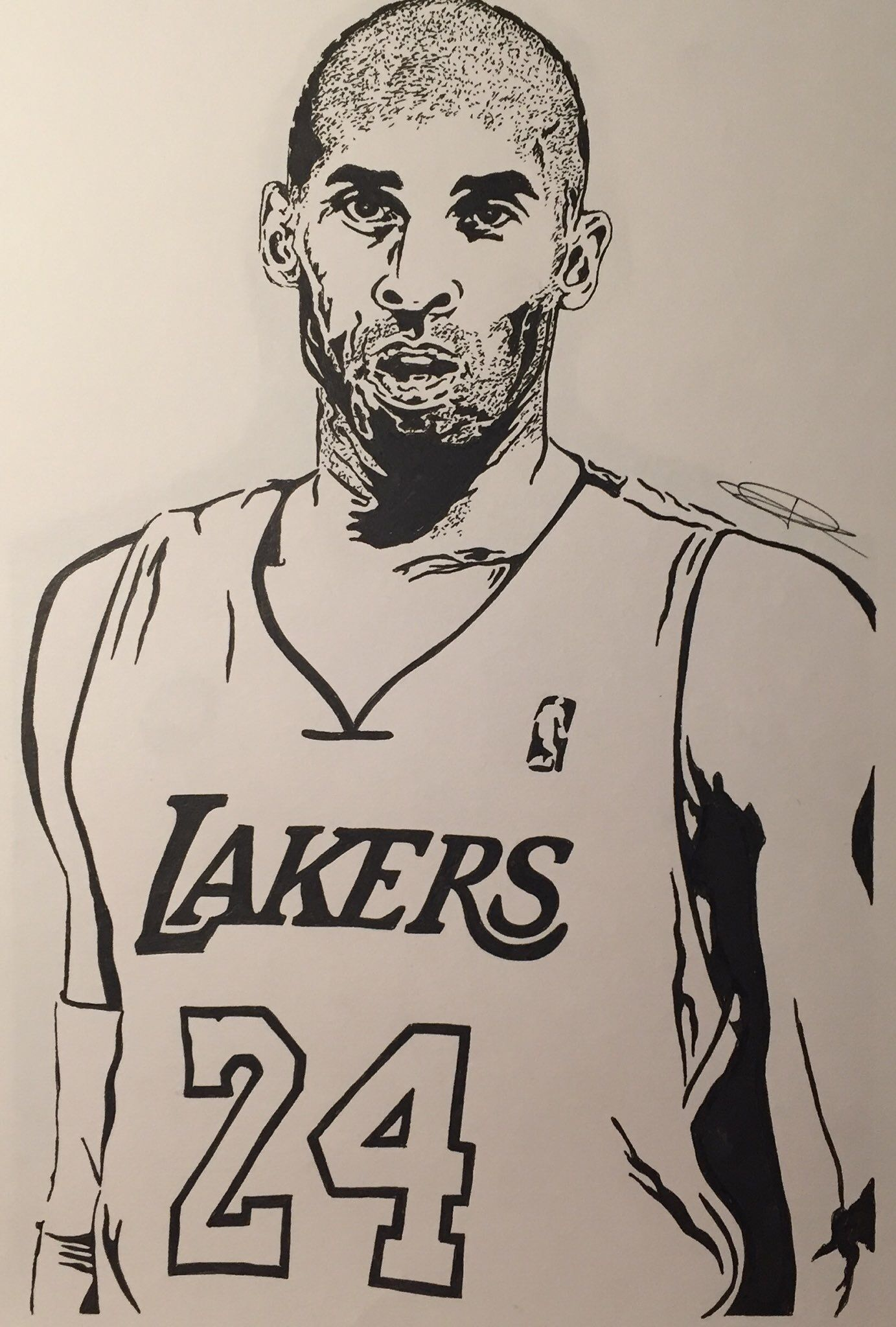 Kobe Bryant With Images Kobe Bryant Step By Step Drawing