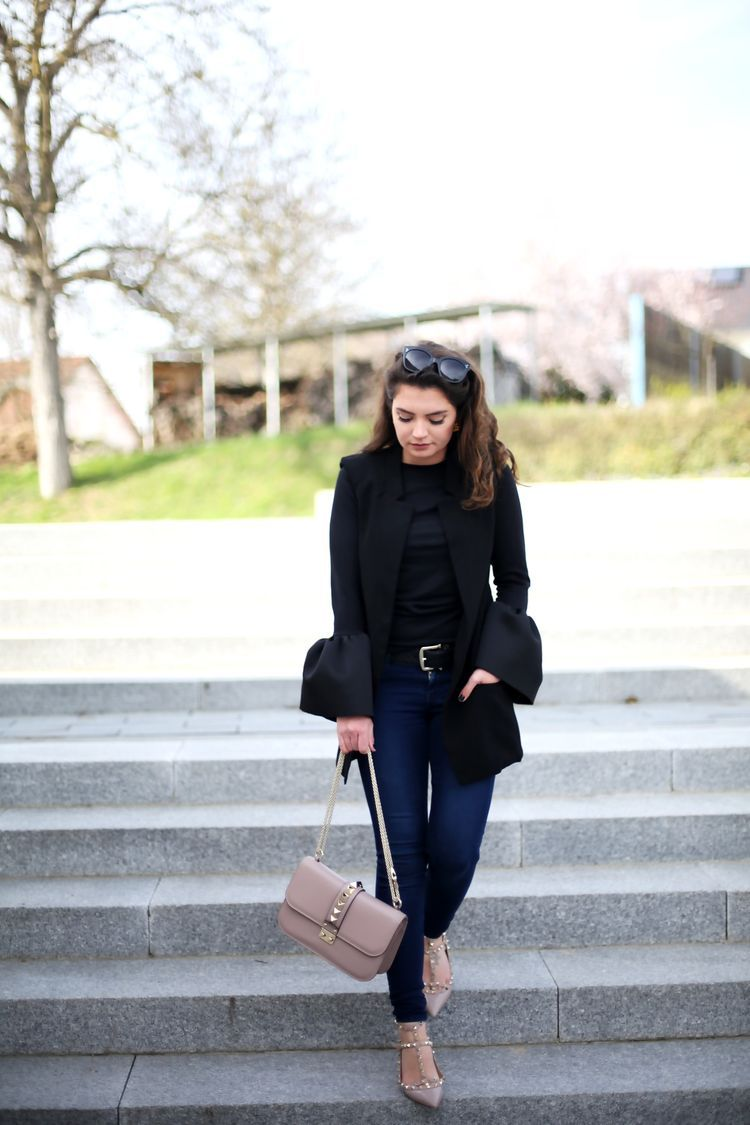 Rockstud flats, Valentino shoes outfit
