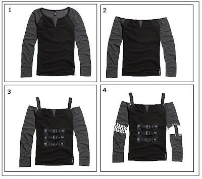 Remaking your clothes:  Goth DIY -   diy Clothes goth