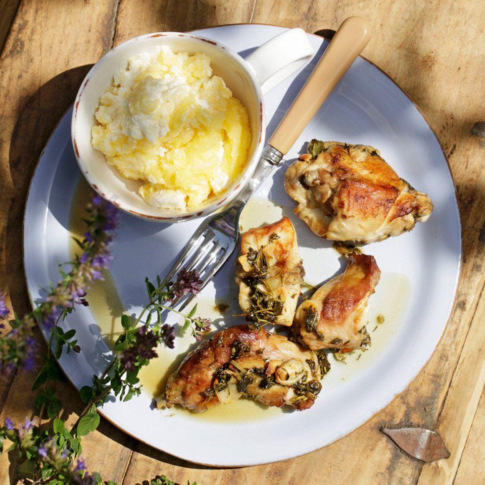 Geschmortes Kaninchen mit Polenta   Recipe