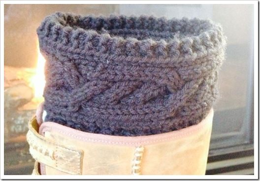 Intertwined Cable Boot Cuffs Free Pattern Knitting Pinterest