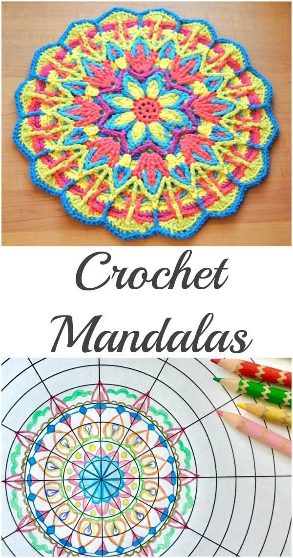 Explore Mandala Crochet + Mandala Crochet Patterns #crochetmandalapattern