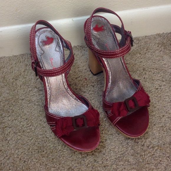 Sean lang red leather heels Unique Sean lang red leather heels / sandals Sean lang Shoes