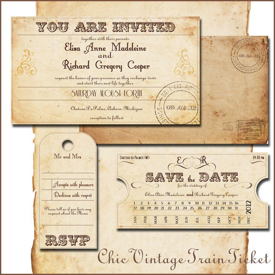 wedding invitation - <b>train</b> <b>tickets</b> by abandig on, Wedding invitations